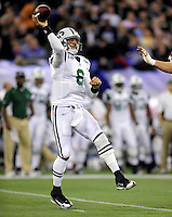 3 December 2009: New York Jets' quarterback Mark Sanchez in action against the Buffalo Bills at the Rogers Centre in Toronto, Ontario, Canada. The Jets defeated the Bills 19-13. Mandatory Credit: Ed Wolfstein Photo