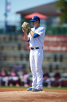 South Bend Cubs pitcher Justin Steele (21) gets ready to deliver a pitch during the second game of a doubleheader against the Peoria Chiefs on July 25, 2016 at Four Winds Field in South Bend, Indiana.  South Bend defeated Peoria 9-2.  (Mike Janes/Four Seam Images)