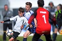 Boys' football. 2019 AIMS games at Gordon Spratt Park in Papamoa, New Zealand on Thursday, 12 September 2019. Photo: Dave Lintott / lintottphoto.co.nz