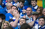 St Johnstone v Dundee United....17.05.14   William Hill Scottish Cup Final<br /> A nervous St Johnstone fan prior to the second goal being scored<br /> Picture by Graeme Hart.<br /> Copyright Perthshire Picture Agency<br /> Tel: 01738 623350  Mobile: 07990 594431