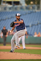 Pedro Payano (39) of the Nashville Sounds delivers a pitch to the plate against the Reno Aces  at Greater Nevada Field on June 5, 2019 in Reno, Nevada. The Aces defeated the Sounds 3-2. (Stephen Smith/Four Seam Images)