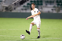 CARY, NC - AUGUST 01: Jake Rufe #13 passes the ball during a game between Birmingham Legion FC and North Carolina FC at Sahlen's Stadium at WakeMed Soccer Park on August 01, 2020 in Cary, North Carolina.