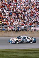 Buddy Baker, #88 Crisco Oldsmobile, action, crowd, Daytona 500, Daytona International Speedway, Daytona Beach, Florida, February 15, 1987. (Photo by Brian Cleary/www.bcpix.com)