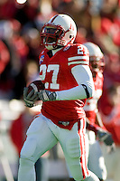 01 January 2007: Nebraska back Kenny Wilson warms up during the 2007 AT&T Cotton Bowl Classic between The University of Auburn and The University of Nebraska at The Cotton Bowl in Dallas, TX.