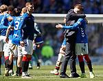 12.05.2019 Rangers v Celtic: Steven Gerrard and Ryan Kent