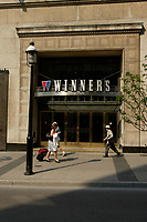 Toronto (ON) CANADA, May 24, 2007<br /> <br /> Winners store on Yonge street and College in downtown Toronto.<br /> <br /> In 1982, Winners was founded in Toronto, Ontario. It was one of the first off-price department stores in Canada. In 1990, Winners merged with TJX Companies, the world's largest off-price department store owne<br /> <br /> Photo by Pierre Roussel - Images Distribution