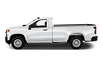 Car Driver side profile view of a 2021 Chevrolet Silverado-1500 WT 2 Door Pick-up Side View