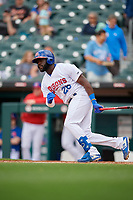 Buffalo Bisons Anthony Alford (26) at bat during an International League game against the Norfolk Tides on June 21, 2019 at Sahlen Field in Buffalo, New York.  Buffalo defeated Norfolk 2-1, the first game of a doubleheader.  (Mike Janes/Four Seam Images)