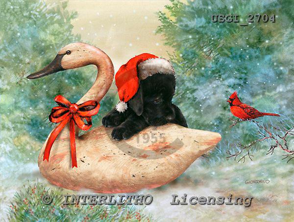 GIORDANO, CHRISTMAS ANIMALS, WEIHNACHTEN TIERE, NAVIDAD ANIMALES, paintings+++++,USGI2704,#XA#