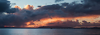 Months of drought finally broken by days of rain - then the clouds opened a bit for sunset.  After the magic, the clouds returned.  It started raining again.  San Francisco Bay.