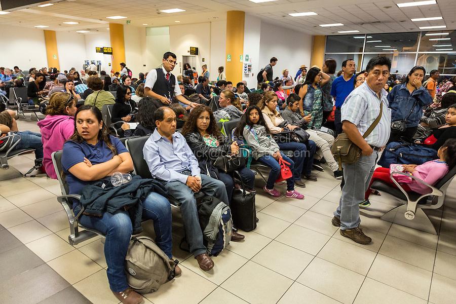 Peru, Lima.  Domestic Airport Waiting Room.