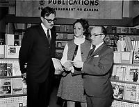 L'ecrivaine Marie Laberge, Octobre 1967<br /> <br /> PHOTO : Agence Québec Presse -