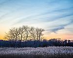 Marsh sunset in Rowley, Massachusetts, USA