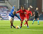 26.11 2020 Rangers v Benfica: Kemar Roofe and Alejandro Grimaldo