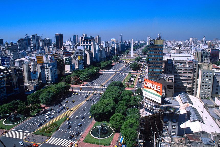 9th de Julio Avenue Worlds Widest Street, Buenos Aires , Argentina