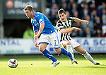 St Mirren v St Johnstone...19.10.13      SPFL<br /> Chris Millar and Kenny McLean<br /> Picture by Graeme Hart.<br /> Copyright Perthshire Picture Agency<br /> Tel: 01738 623350  Mobile: 07990 594431