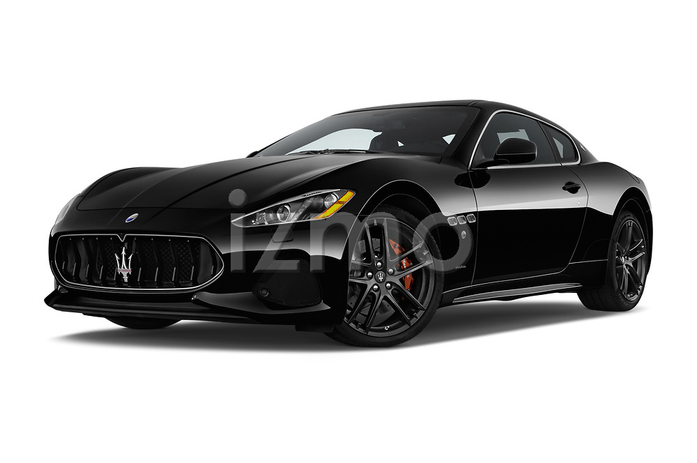 Stock pictures of low aggressive front three quarter view of a 2018 Maserati GranTurismo Automatic 2 Door Coupe