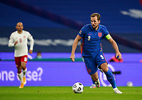Harry Kane (Tottenham Hotspur) of England during the UEFA Nations League match played behind closed doors due to the current government Covid-19 rules within sports venues between England and Denmark at Wembley Stadium, London, England on 14 October 2020. Photo by Andy Rowland.