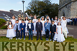 Pupils from Scoil Saidhbhín who made their First Holy Communion in the O'Connell Memorial Church in Cahersiveen on Saturday, front l-r; Ava McCarthy, Kevin Foster, Eoin Fitzgerald, Tadhg Clifford, Aronas Marcinkus, Cillian Kelly, Rory O'Neill, Emma O'Neill, back l-r; Holly Taylor, Aisa Sumegi, Lucy O'Connell, Clara O'Sullivan, Grace Hallissey, Milena Pudzemiene, Amber O'Shea & Kimberly Christopher.