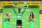 Peter Sagan (SVK) Bora-Hansgrohe retains the points Green Jersey at the end of Stage 20 of the 2019 Tour de France running 59.5km from Albertville to Val Thorens, France. 27th July 2019.<br /> Picture: ASO/Alex Broadway | Cyclefile<br /> All photos usage must carry mandatory copyright credit (© Cyclefile | ASO/Alex Broadway)
