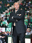 North Texas Mean Green head coach Johnny Jones looks at his bench  in the game between the Jackson State Tigers and the University of North Texas Mean Green at the North Texas Coliseum,the Super Pit, in Denton, Texas. UNT defeated Jackson 68 to 49