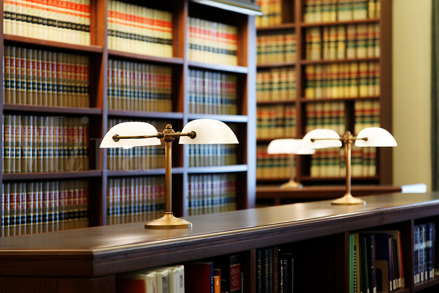 First floor library of the Pioneer Courthouse, Portland, Multnomah County, Oregon, USA
