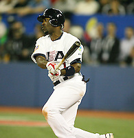March 7, 2009:  Shortstop Jimmy Rollins (1) of Team USA during the first round of the World Baseball Classic at the Rogers Centre in Toronto, Ontario, Canada.  Team USA defeated Canada 6-5 in both teams opening game of the tournament.  Photo by:  Mike Janes/Four Seam Images