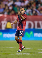 Landon Donovan (10) of the USMNT talks to his teammates during the game at Lincoln Financial Field in Philadelphia, PA. The USMNT tied Mexico, 1-1.