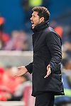 Coach Diego Simeone of Atletico de Madrid reacts during their Copa del Rey 2016-17 Round of 16 match between Atletico de Madrid and UD Las Palmas at the Vicente Calderón Stadium on 10 January 2017 in Madrid, Spain. Photo by Diego Gonzalez Souto / Power Sport Images