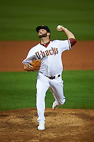 Salt River Rafters pitcher Daniel Gibson (31) delivers a pitch during an Arizona Fall League game against the Glendale Desert Dogs on October 23, 2015 at Salt River Fields at Talking Stick in Scottsdale, Arizona.  Glendale defeated Salt River 7-5.  (Mike Janes/Four Seam Images)