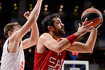 Real Madrid's Luka Doncic and EA7 Emporio Armani Milan's Krunoslav Simon during Turkish Airlines Euroleage match between Real Madrid and EA7 Emporio Armani Milan at Wizink Center in Madrid, Spain. January 27, 2017. (ALTERPHOTOS/BorjaB.Hojas)