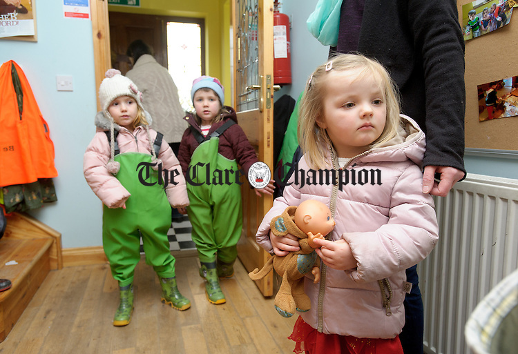 Rachel Pegg waits for her friends to go outside during a Pyjama Day party at Teach Spraoi, Toonagh as part of the annual Pyjama Day for Autism. Photograph by John Kelly.