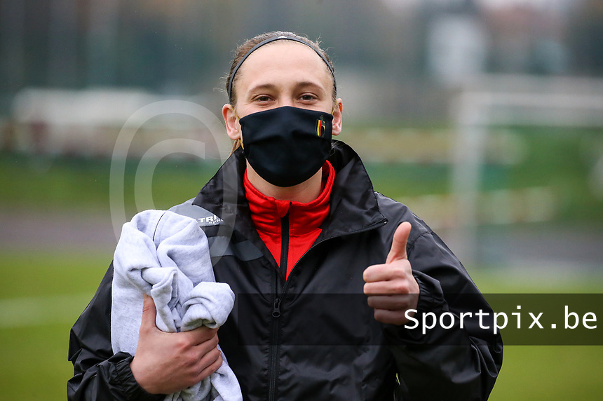 Clotilde Codden (23 Woluwe) poses before during a female soccer game between FC Femina WS Woluwe and RSC Anderlecht Women on the eight match day of the 2020 - 2021 season of Belgian Women's Super League , Sunday 22nd of November 2020  in Woluwe, Belgium . PHOTO SPORTPIX.BE | SPP | SEVIL OKTEM