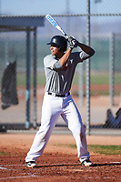 Jasairi Davison (55), from Moreno Valley, California, while playing for the Indians during the Under Armour Baseball Factory Recruiting Classic at Red Mountain Baseball Complex on December 29, 2017 in Mesa, Arizona. (Zachary Lucy/Four Seam Images)