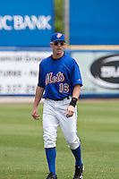 April 25 2010: Emmanuel Garcia (16) of the St. Lucie Mets during a game vs. the Bradenton Marauders at Digital Domain Park in Port St. Lucie, Florida. St. Lucie, the Florida State League High-A affiliate of the New York Mets, won the game against Bradenton, affiliate of the Pittsburgh Pirates, by the score of 5-4  Photo By Scott Jontes/Four Seam Images