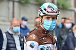 Benoit Cosnefroy (FRA) AG2R La Mondiale at sign on before La Fleche Wallonne 2020, running 202km from Herve to Mur de Huy, Belgium. 30th September 2020.<br /> Picture: ASO/Gautier Demouveaux   Cyclefile<br /> All photos usage must carry mandatory copyright credit (© Cyclefile   ASO/Gautier Demouveaux)