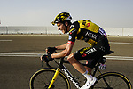 Chris Harper (AUS) Team Jumbo-Visma on the final climb of Stage 3 of the 2021 UAE Tour running 166km from Al Ain to Jebel Hafeet, Abu Dhabi, UAE. 23rd February 2021.  <br /> Picture: Eoin Clarke | Cyclefile<br /> <br /> All photos usage must carry mandatory copyright credit (© Cyclefile | Eoin Clarke)