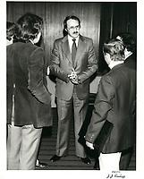 Guy Tardif au congres de l'UMQ, le 17 mars 1979<br /> <br /> <br /> PHOTO :  Agence Quebec Presse