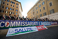 19.11.2020 - Calabrian Mayors Protest Outside The Italian Parliament