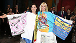 """Katerina Papacostas and Jenifer Foote during the Broadway Opening Night Actors' Equity Legacy Robe Ceremony honoring Jenifer Foote for """"Tootsie"""" at The Marquis Theatre on April 22, 2019  in New York City."""