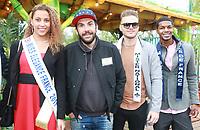 LIVIA HOARAU, Miss Elegance 2017, LAURENT OURNAC & les dauphins de MISTER FRANCE 2017 - Soirée d'inauguration de la foire du trône 2017 - Paris, France - 31/03/2017