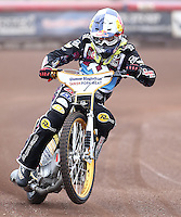 Mikkel Bech of Lakeside Hammers - Lakeside Hammers Press & Practice Day at the Arena Essex Raceway, Pufleet - 20/03/15 - MANDATORY CREDIT: Rob Newell/TGSPHOTO - Self billing applies where appropriate - 0845 094 6026 - contact@tgsphoto.co.uk - NO UNPAID USE