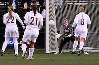 COLLEGE STATION, TX - DECEMBER 4:  Kira Maker of the Stanford Cardinal during Stanford's 2-1 (OT) win over the UCLA Bruins in the NCAA Women's Soccer Championships semi-finals on December 4, 2009 in College Station, Texas.