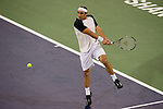 SHANGHAI, CHINA - OCTOBER 11:  Marcos Baghdatis of Cyrus returns a ball to Jeremy Chardy of France during day one of the 2010 Shanghai Rolex Masters at the Shanghai Qi Zhong Tennis Center on October 11, 2010 in Shanghai, China.  (Photo by Victor Fraile/The Power of Sport Images) *** Local Caption *** Marcos Baghdatis