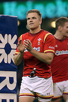 Gareth Anscombe of Wales thanks home supporters after the RBS 6 Nations Championship rugby game between Wales and Scotland at the Principality Stadium, Cardiff, Wales, UK Saturday 13 February 2016