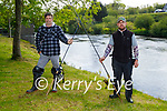 Enjoying a bit of rod fishing at the Feale river in Listowel on Sunday, l to r: Mikey Loughnane and John O'Connor