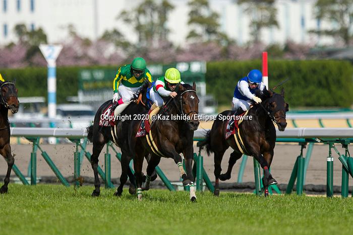 TOYOAKE,JAPAN-MAR 15: Saturnalia #6,ridden by Christophe Lemaire,wins the Kinko Sho at Chukyo Racecourse on March 15,2020 in Toyoake,Aichi,Japan. Kaz Ishida/Eclipse Sportswire/CSM