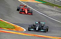 27th August 2021; Spa Francorchamps, Stavelot, Belgium: FIA F1 Grand Prix of Belgium, free practise:   44 Lewis Hamilton GBR, Mercedes-AMG Petronas F1 Team
