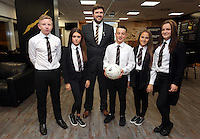 Pictured: The winners, pupils from Pentrehafod School with Graham Smith Wednesday 25 November 2015<br />