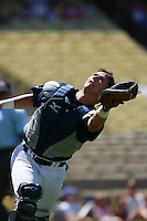 August 9 2008: Andrew Susac participates in the Aflac All American baseball game for incoming high school seniors at Dodger Stadium in Los Angeles,CA.  Photo by Larry Goren/Four Seam Images